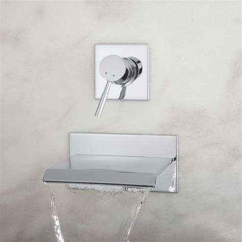 wall mount waterfall tub faucet signature hardware lavelle wall mount waterfall tub faucet