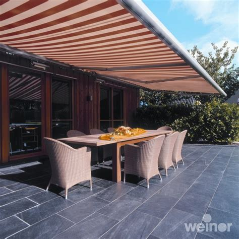 retractable patio awnings markliux weinor electric manual awnings   home