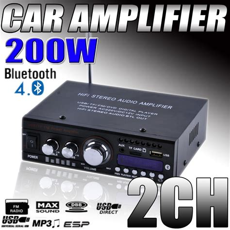 Mini Bluetooth Car Motorcycle Power Amplifier Hifi