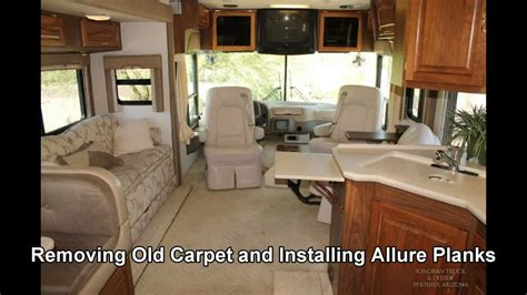 removing  motorhome carpet replacing  allure youtube