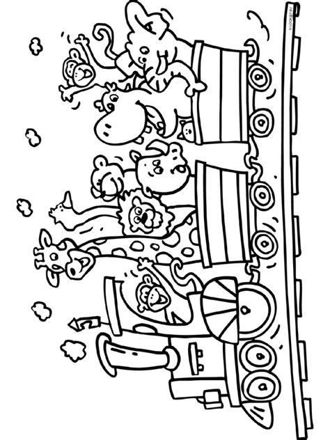 Kleurplaat Ales Dieren Op De Kleuplat by Kleurplaat Trein Met Dieren Kleurplaten Nl