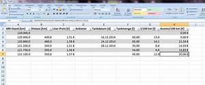 Stichprobengröße Berechnen Excel : benzin verbrauch kosten berechnen office ~ Themetempest.com Abrechnung