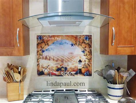 italian tile murals tuscan backsplash tiles
