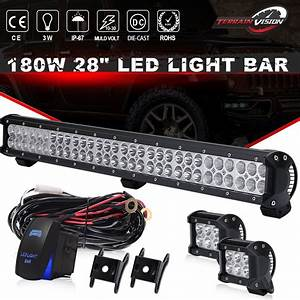 Polaris Ranger 570 900 Xp Full Size 2013 Up 28 U0026 39  U0026 39  Led Light Bar  Pods Wiring Kit