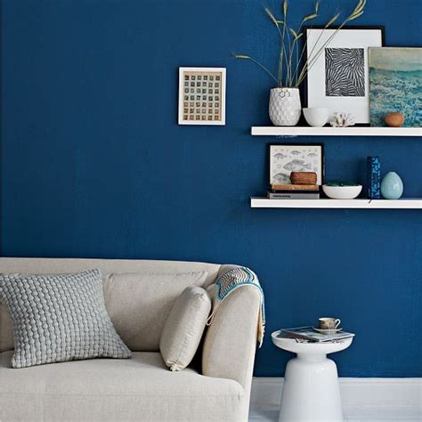 Blue And Brown Bathroom Decorating Ideas by Blue Paint