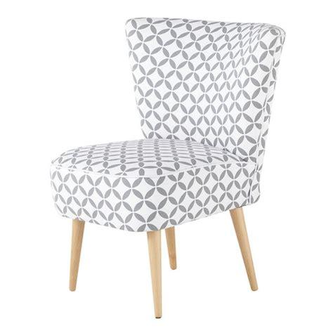 fauteuil vintage 224 motifs en coton gris et blanc