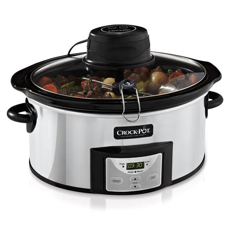 crock pot cooker crock pot 174 digital slow cooker with istir stirring system at crock pot com
