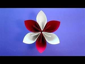 Einfache Papierblume Basteln : origami blume basteln mit kindern einfache bastelideen blumen basteln mit papier viyoutube ~ Eleganceandgraceweddings.com Haus und Dekorationen