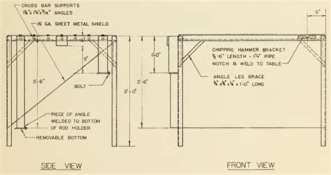 steel welding table plans welding table build