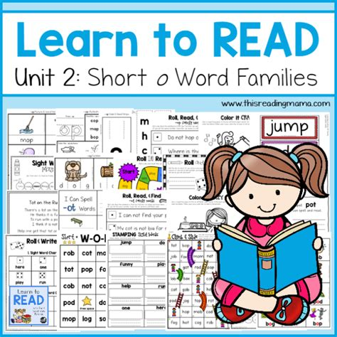 Learn To Read Short O Word Families {unit 2}  This Reading Mama
