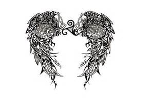 Valkyrie Wings Tattoo Designs