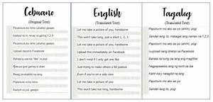 Translate english to tagalog and english to cebuano texts ...