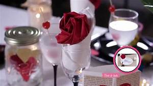 diy saint valentin decoration de table romantique youtube With deco de table campagnarde