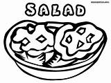 Salad Coloring Pages Sheet Colorings sketch template
