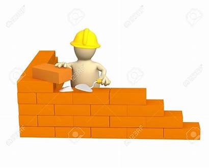 Building Brick Wall Clipart Foundations Builder 3d