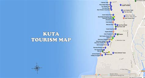 kuta map bali travel guides