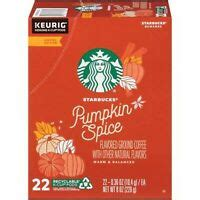 There are also to decaf options available; Starbucks Pumpkin Spice Flavored Coffee K-Cups Pods 22 CT ...