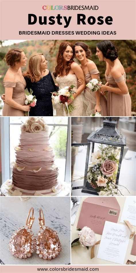 All 20+ Dusty Rose Wedding Color Palettes #