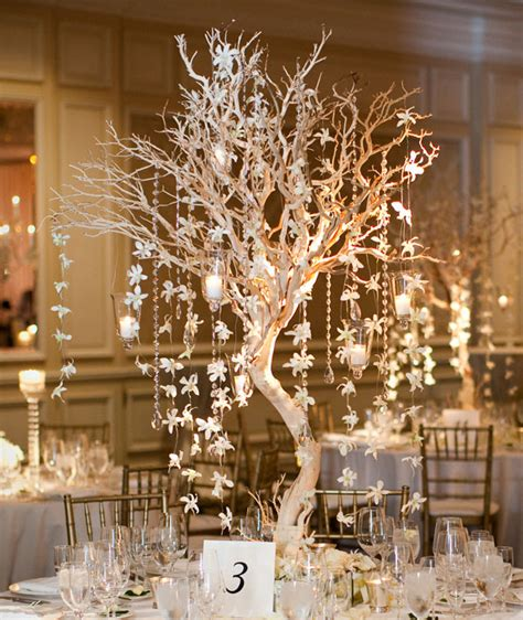 winter branch centerpieces winter wedding manzanita branch centerpiece bob and dawn davis the vintage party company