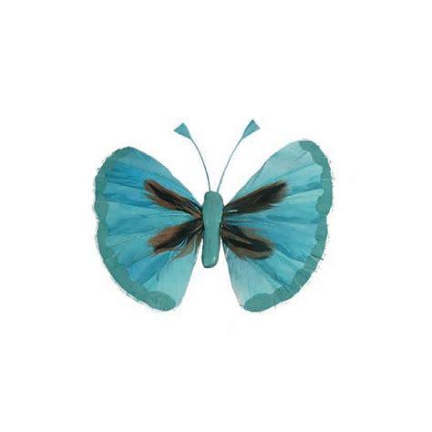 papillons couleur en plumes les 6 sur tige baiskadreams