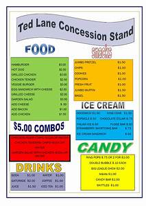 concession stand menu westbrook ct little league With concession stand menu template