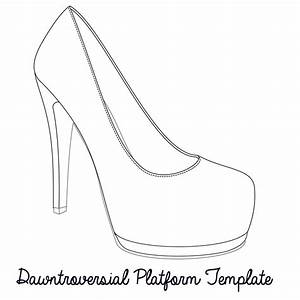 high heel outline clipart clipart suggest With high heel template for cards