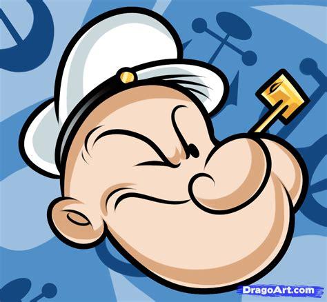 draw popeye easy step  step cartoons cartoons