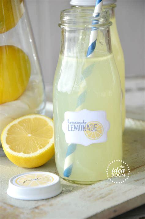 homemade lemonade gift kit  printables  idea room