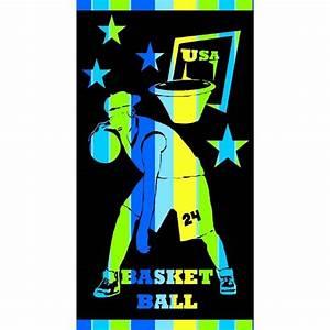 Drap De Plage Homme : drap de plage basket ball 86x160cm bleu ~ Teatrodelosmanantiales.com Idées de Décoration