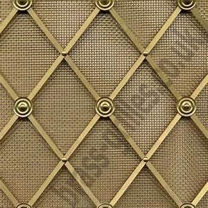 Grille Metal Decorative : decorative woven wire regency brass decorative grilles traditional kitchen cabinets ~ Melissatoandfro.com Idées de Décoration