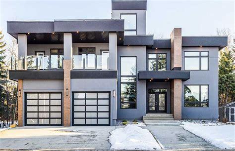 modern house plan  roof top deck ab