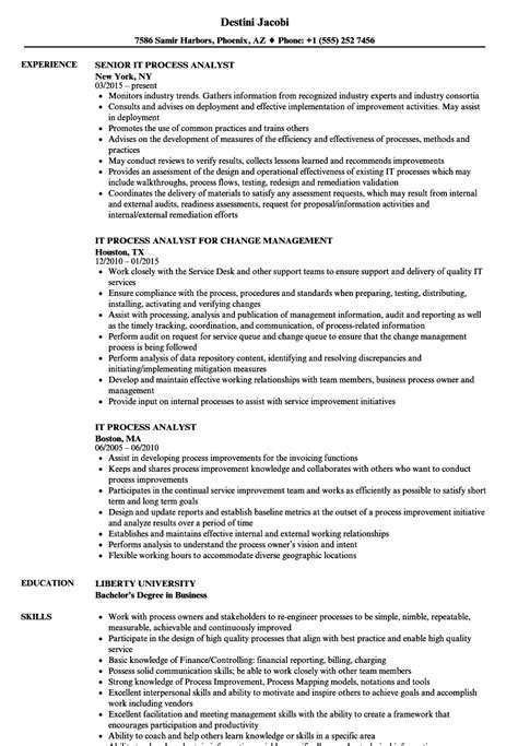 It Process Analyst Resume Samples  Velvet Jobs