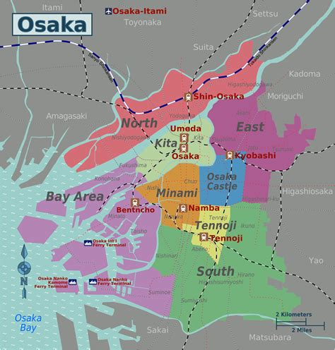 city wards map mkj osaka japan tourism japan travel