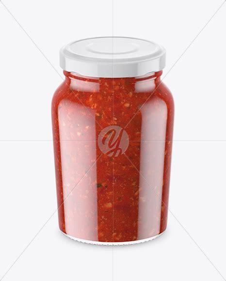 4689×3135 px minimum photoshop version: Clear Glass Jar With Sweet Sour Sauce Mockup