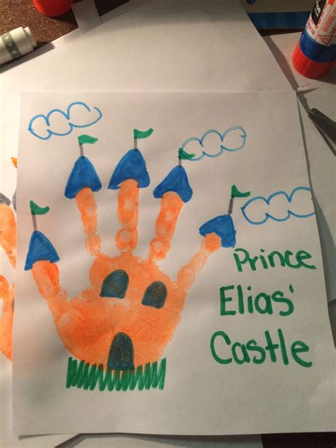 handprint castle toddler crafts crafts 125 | 36efca21d4833b0bc83cbdb4c8148236