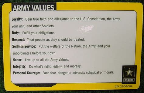 army values card   good  im  interested