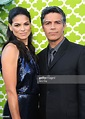 Actor Esai Morales and wife Elvimar Silva arrive at the ...