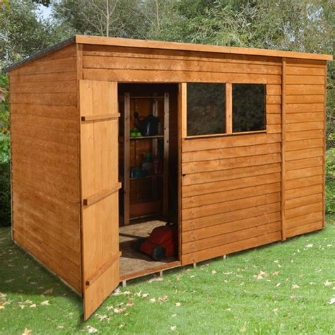 10 x 6 shed homebase hartwood 10 x 6 fsc overlap pent shed what shed