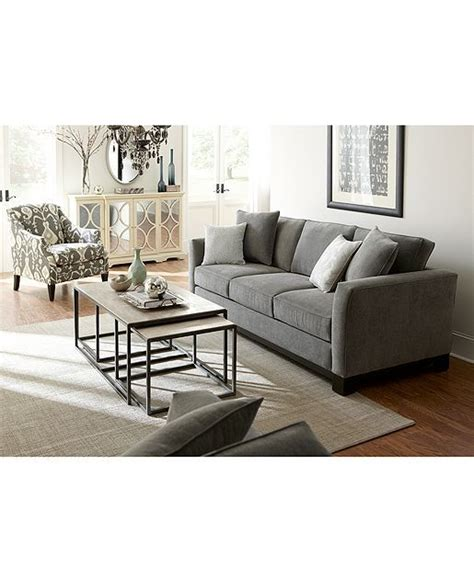 macys kenton 88 wood base sofa kenton fabric sofa living room furniture collection