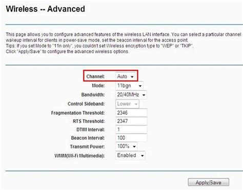 how to change wireless channel on my tp link wireless