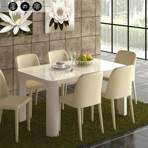 small 6 person dining treasure house rectangular glass dining table to eat small