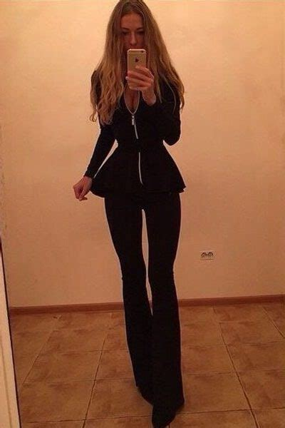 business elegant women black dressy pant suits