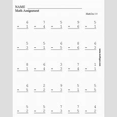 Math Sheets For Kindergarten And First Grade Worksheet Printable  Teaching Subtraction
