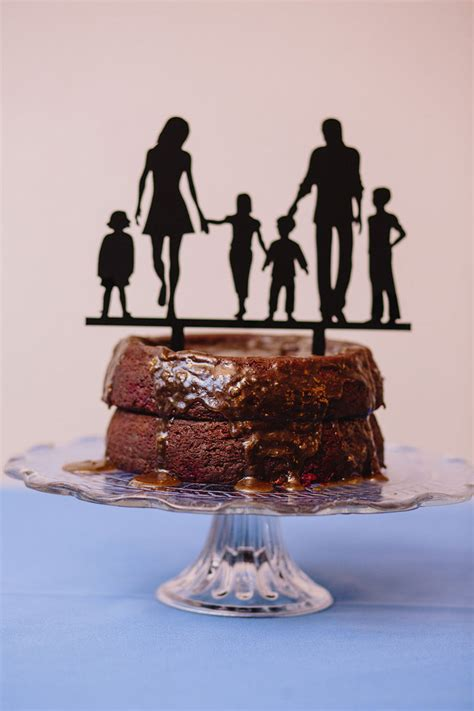 blended family cake topper wins  brady bunch trophy