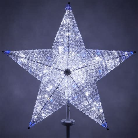 christmas decorations shimmering cool white blue led