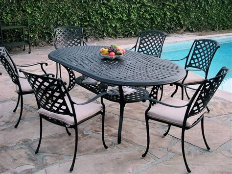 Metal Patio Furniture Sets by 7 Outdoor Patio Furniture Cast Aluminum Dining Set