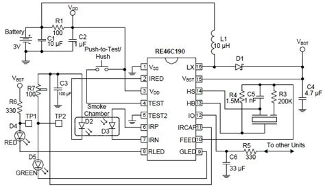 schematic wiring diagram re46c190 photoelectric smoke detector