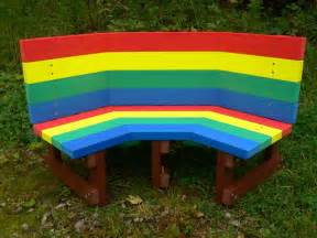 multicoloured children s buddy bench education