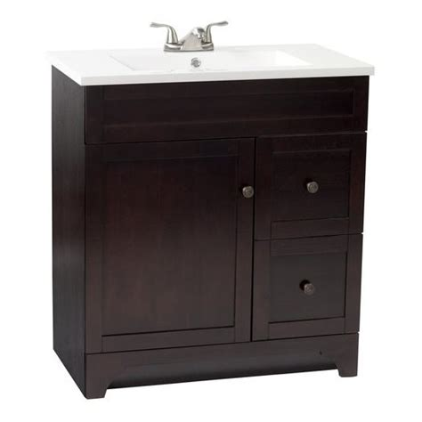 18 inch bathroom vanity top nou living by foremost highland 32 in walnut vanity with