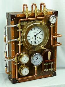 Wall, Clock, Berniscervera, Industrial, Steampunk, Old, And, Vintage